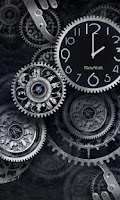Screenshot of Black Clock Live Wallpaper HD