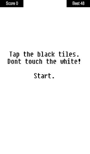 Tap the black tiles