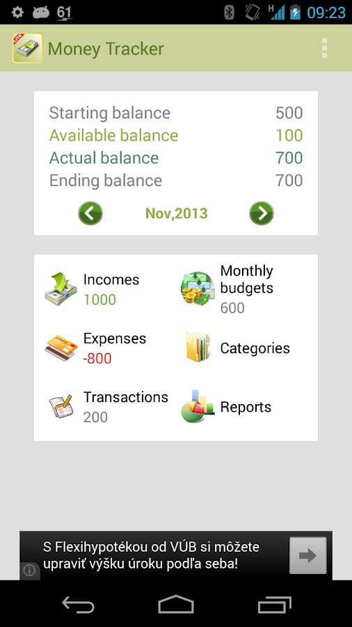 Money Tracker Free- screenshot