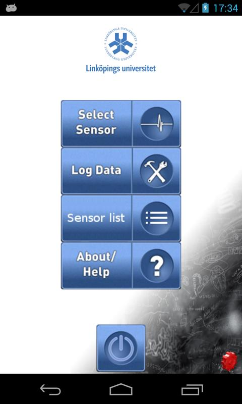Sensor fusion app- screenshot