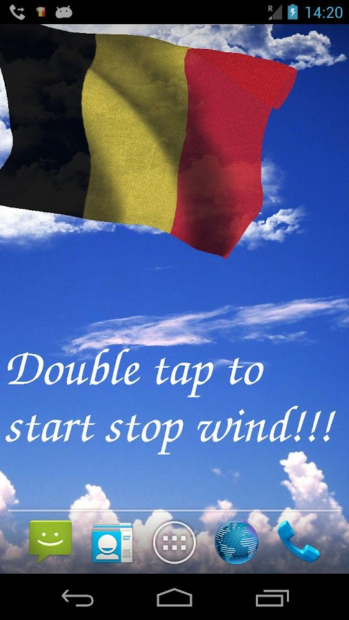 3D Belgium Flag Live Wallpaper - screenshot