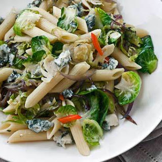 Penne Rigate with Brussels Sprouts and Gorgonzola