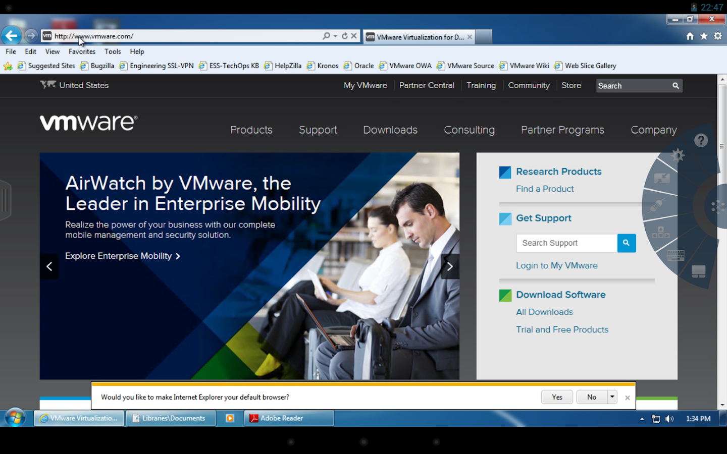 VMware Horizon Client - screenshot