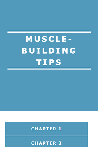 MUSCLE-BUILDING TIPS