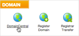 Domain Central option