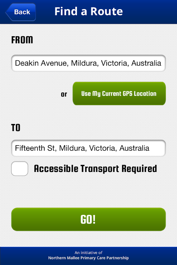 Mallee Transport Connect - screenshot