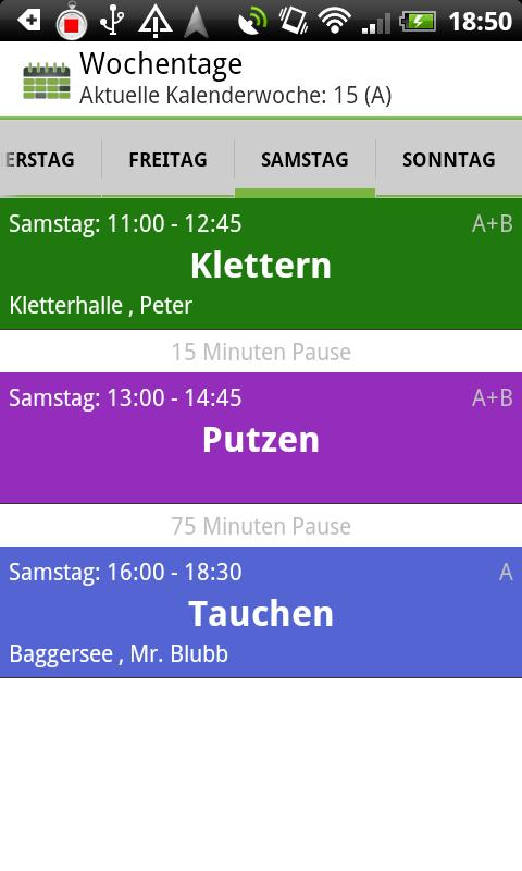 School Timetable Deluxe - screenshot