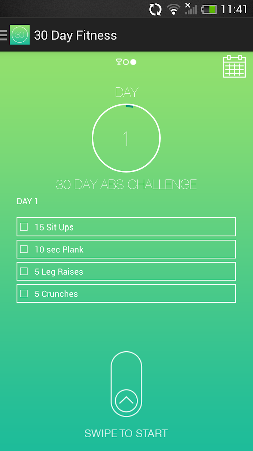 30 Day Fitness Challenges - screenshot