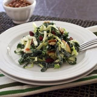 Kale and Napa Cabbage Salad with Greek Yogurt Dressing.