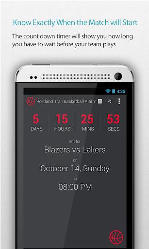 Portland Basketball Alarm Pro