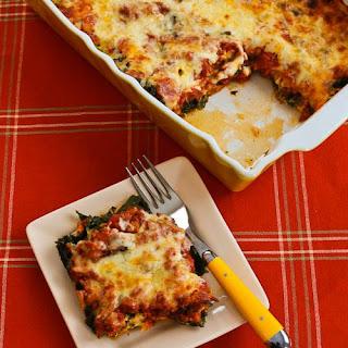 Sausage and Kale Mock Lasagna Casserole.