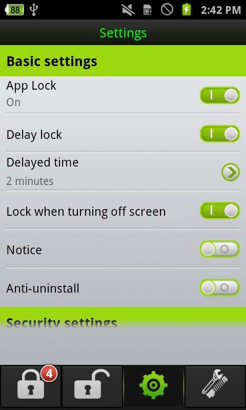 Fast App lock security&privacy- screenshot