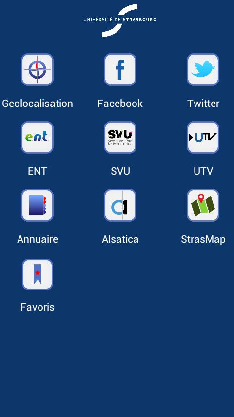 Unistra - screenshot