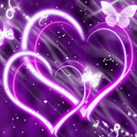 Hearts Purple Butterfly icon