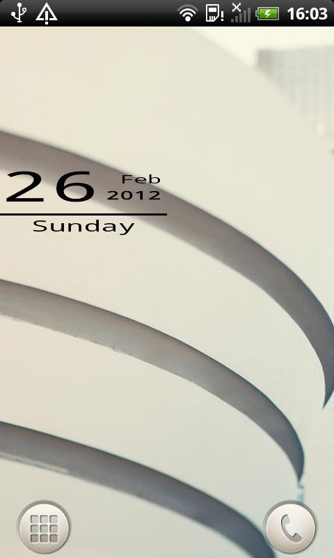 Mono Date Widget - screenshot