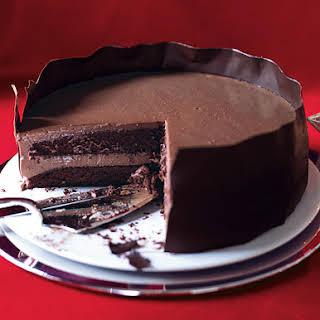 Chocolate Panna Cotta Layer Cake.