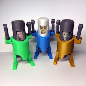 3Dポチ袋ロボ Pochidroid-1