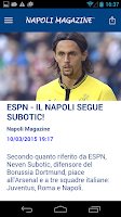 Screenshot of Napoli Magazine