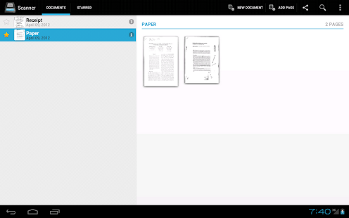 Handy Scanner Free PDF Creator - screenshot thumbnail