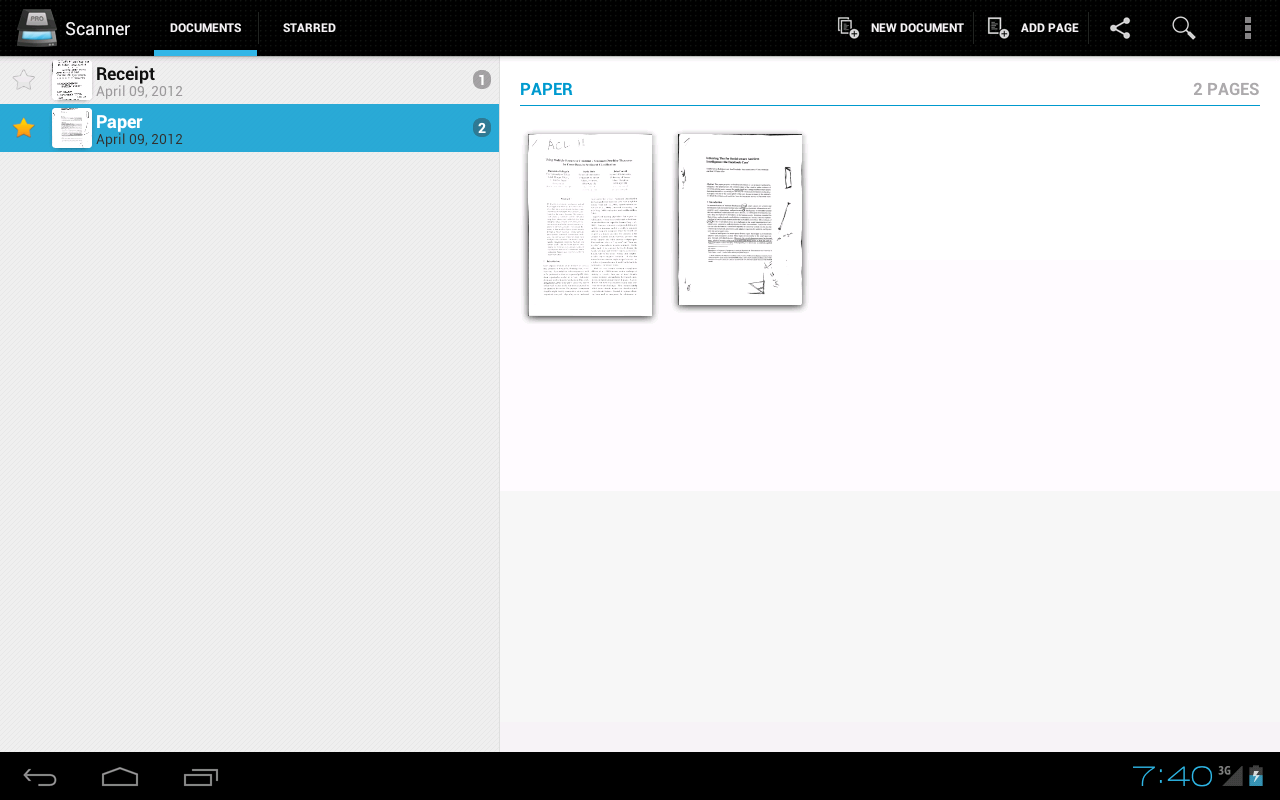 Handy Scanner Free PDF Creator - screenshot