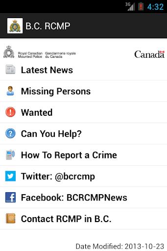 B.C. RCMP GRC en C.-B.