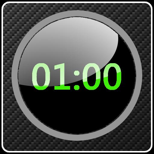 工具のカーボン調 時計ウィジット LOGO-記事Game