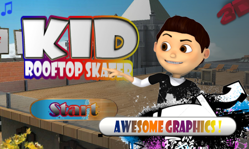 Kid Rooftop Skater