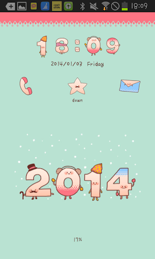 Happy2014 go locker theme