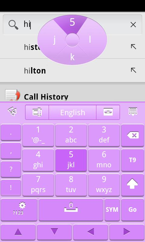 Purple GO Keyboard Theme - screenshot