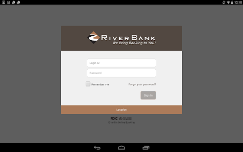 RiverBank Mobile- screenshot thumbnail
