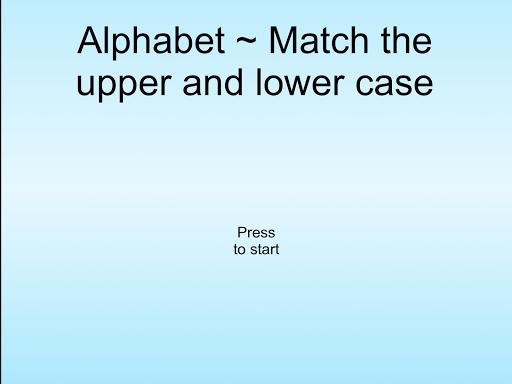 Alphabet Match Letters +