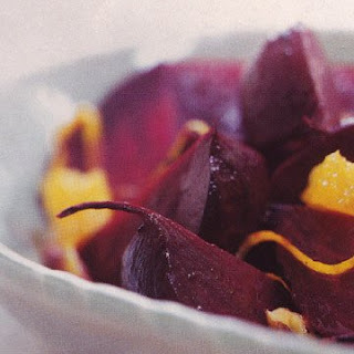 Roasted Beets with Orange and Ginger.