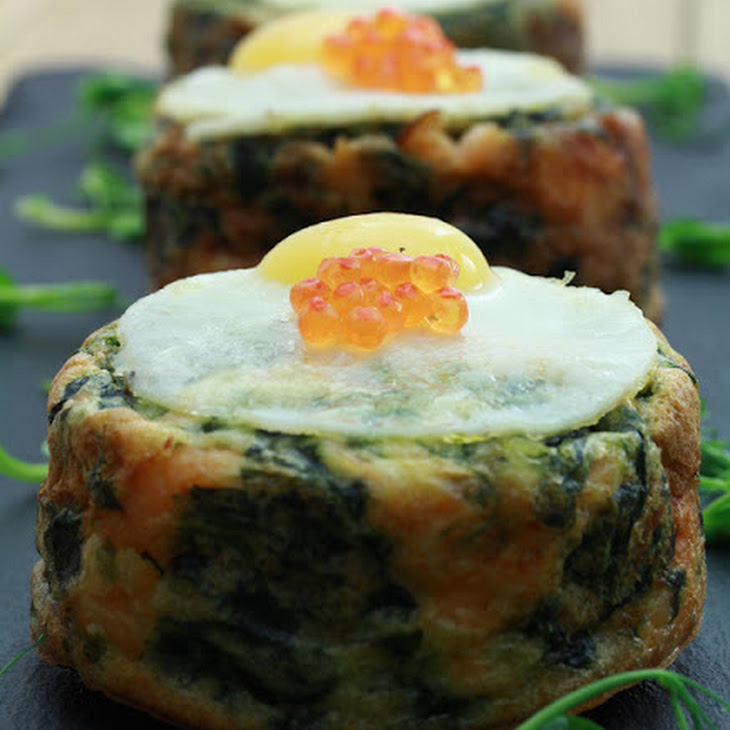 Smoked Salmon and Spinach Clafoutis Recipe