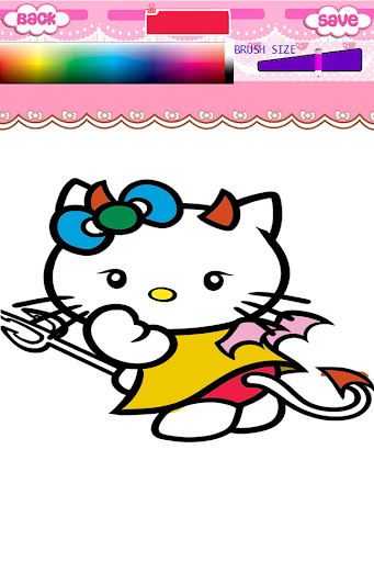 Kitty Books Coloring For Kids