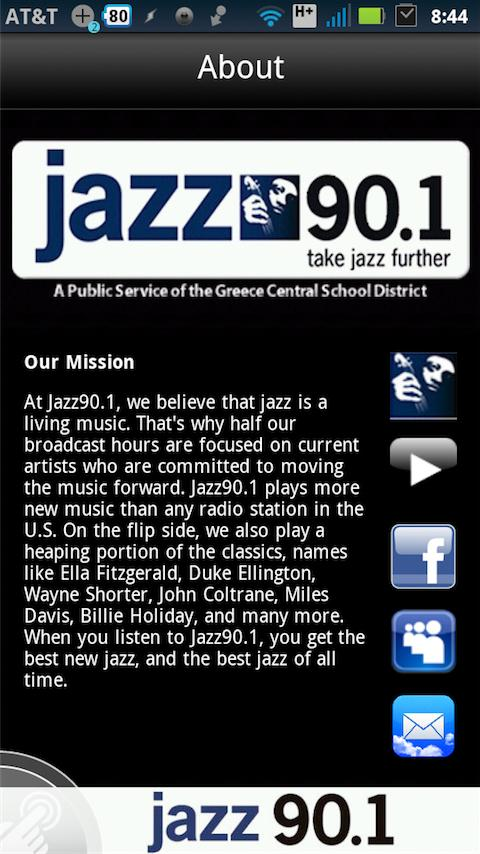 Rochester's Jazz90.1 - screenshot