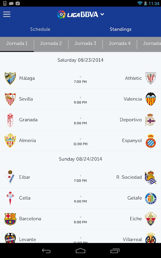 Liga BBVA - screenshot