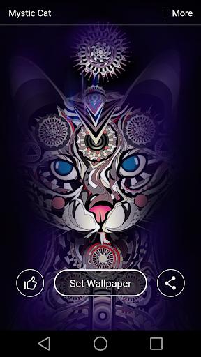 Mystic Cat Live Wallpaper