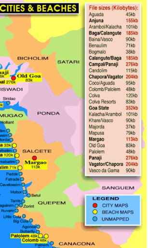 Maps of Goa