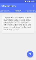 Screenshot of Micro Diary • Daily Journal