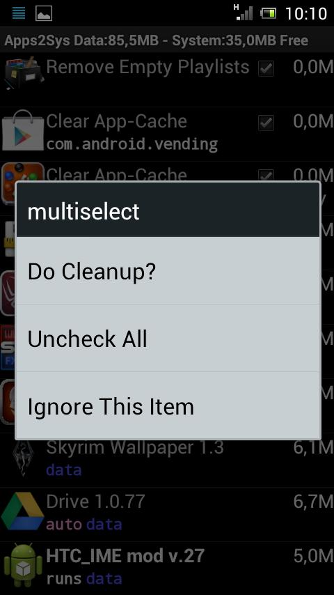 SystemCleanup - screenshot