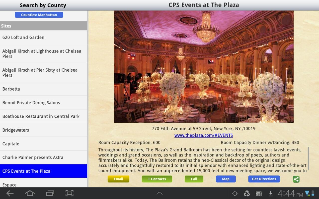 Event Locations- screenshot