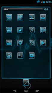 Serenity Launcher Theme Cyan- screenshot thumbnail
