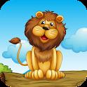 Животные детям Обучающие игры icon