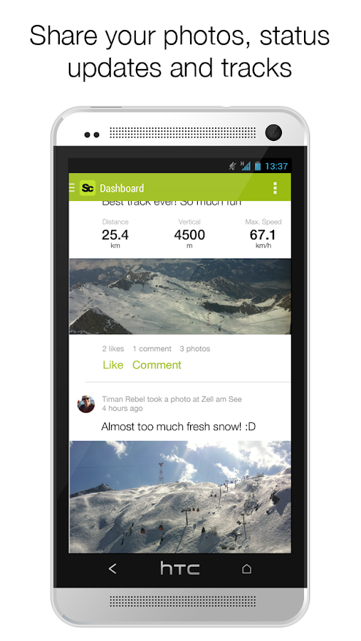 Snowciety - Social ski tracker- screenshot