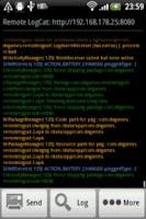 Screenshot of Remote LogCat