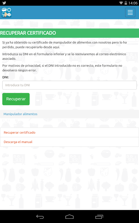 Carn manipulador de alimentos android apps on google play - Examen de manipulador de alimentos ...