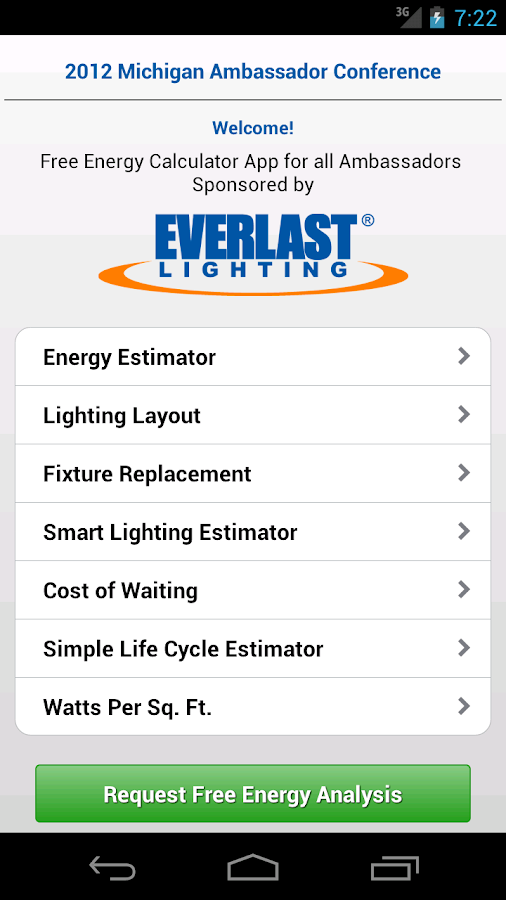 EverLast Lighting Calculator - Android Apps on Google Play