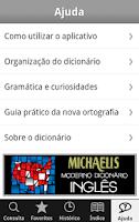 Screenshot of Dicionário Michaelis Inglês