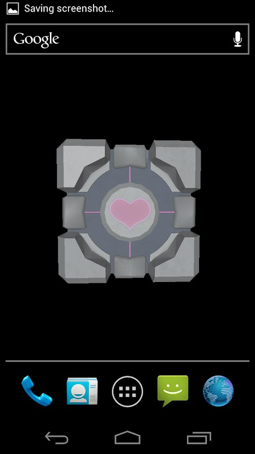 Companion Cube 3D (HD) LWP- screenshot