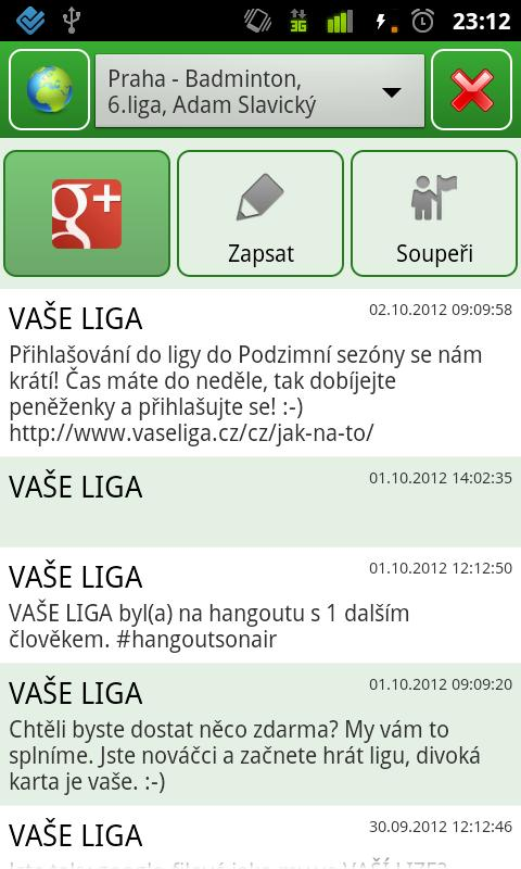 VAŠE LIGA- screenshot